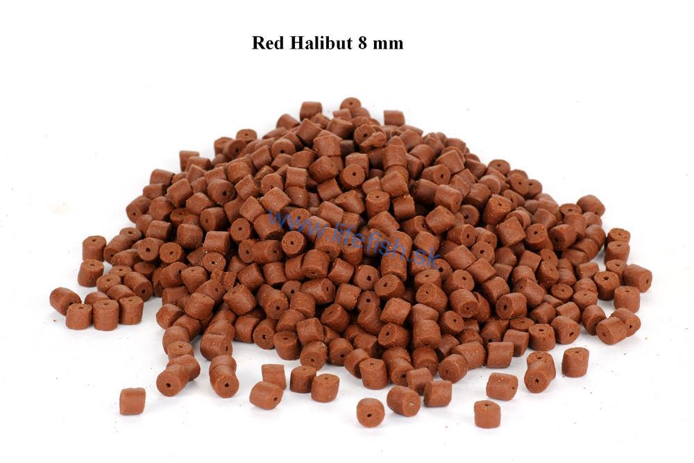 Halibut pelety Red s dierou 8mm, 20kg