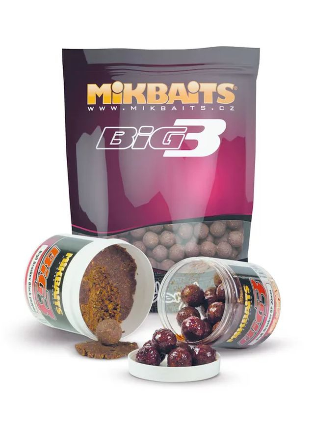 MIKBAITS Legends BigB Broskev Black Pepper 1kg, 20mm