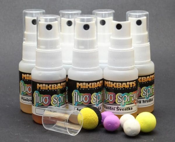 MIKBAITS Fluo spray 30ml - Broskev Black pepper