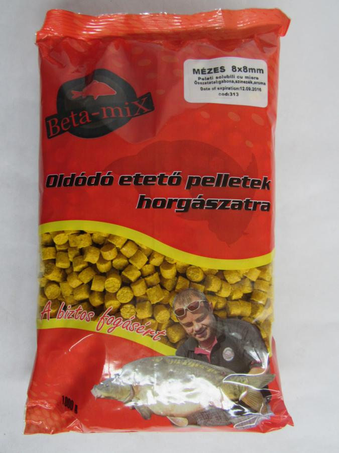 BETA MIX Pelety 8 mm, 1 kg - Mušľa