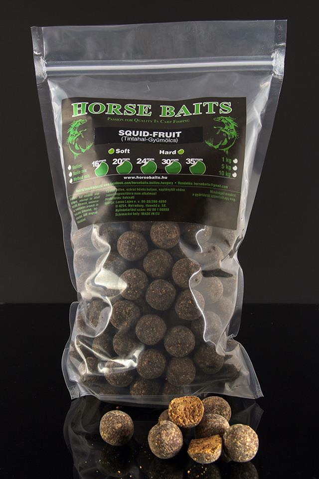 HORSE BAITS Boilies Hard 1kg - Squid Fruit