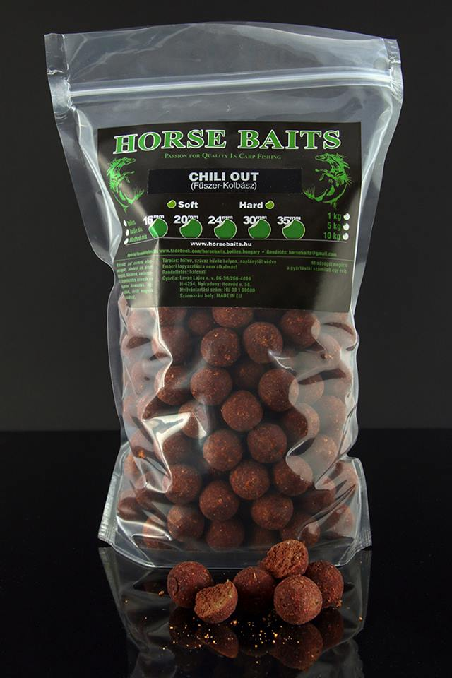HORSE BAITS Boilies Hard 1kg - Chili Out