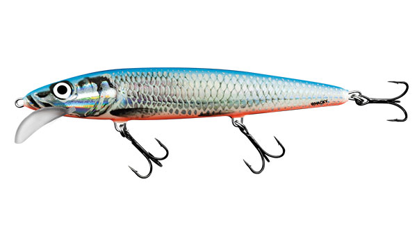 SALMO Wobler Floating Silver Blue