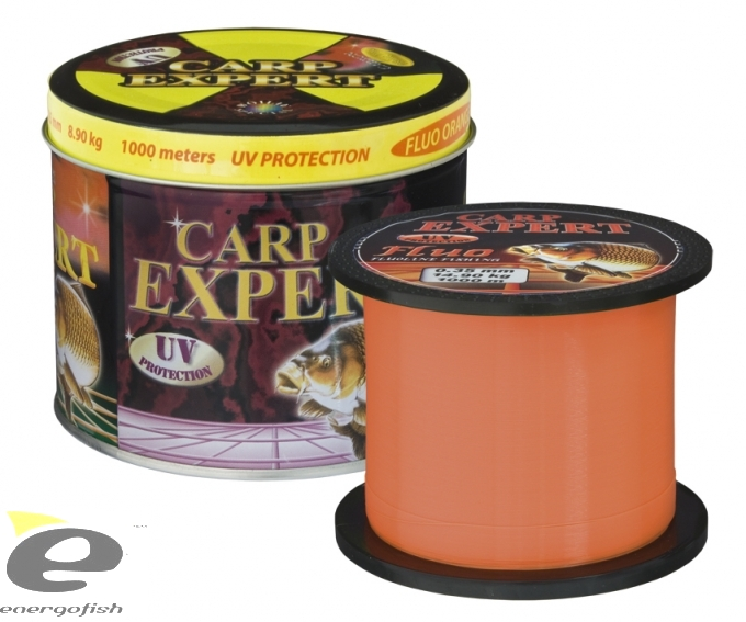 CARP EXPERT UV FLUO Orange 1000m - 0.30mm, 12.50kg