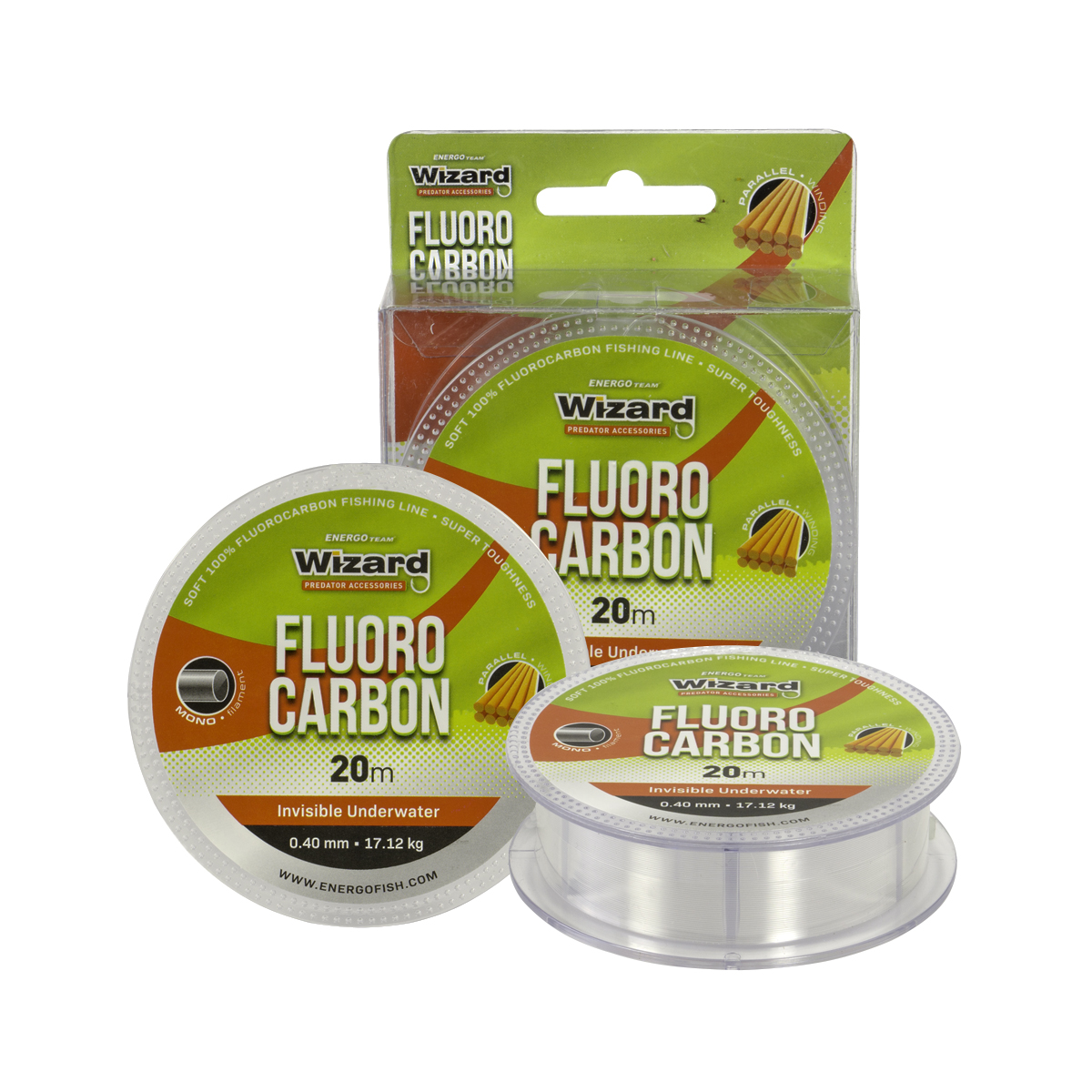 WIZARD Fluorocarbon Transparent - 0.40mm/20m/17.12kg