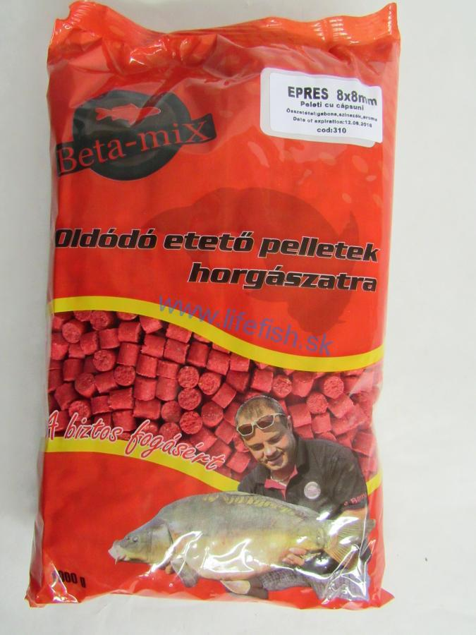 BETA MIX Pelety 8 mm, 1 kg - Jahoda