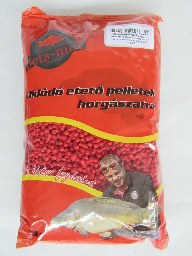BETA MIX Mikropelety 4 mm, 1 kg - Ryba