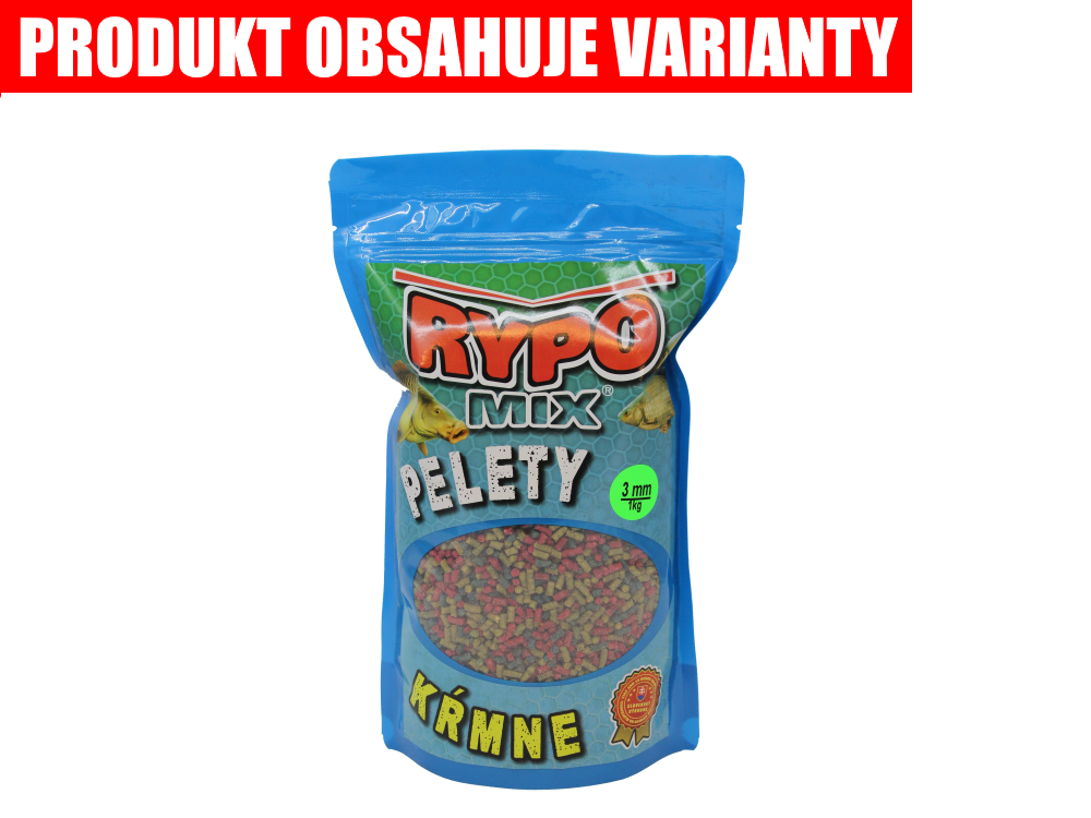 RYPO MIX Kŕmne pelety Mix 3mm, 1kg