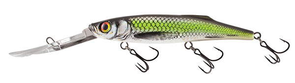 SALMO Wobler Freediver Super Deep Runner Silver Chartreuse Shad 12cm, 24g