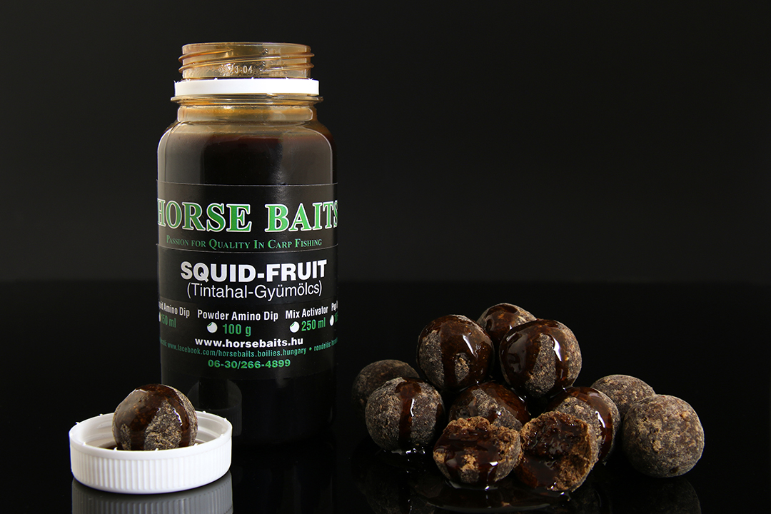 HORSE BAITS Liquid Amino Dip 150ml - Sqiud Fruit