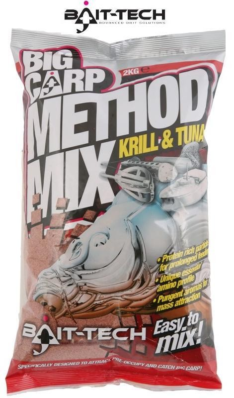 BAIT-TECH Krmitková zmes Big Carp - Method Mix Krill & Tuna 2kg