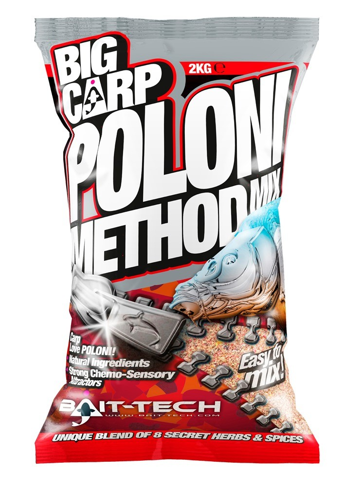 BAIT-TECH Krmitková zmes Big Carp - Method Mix Poloni 2kg