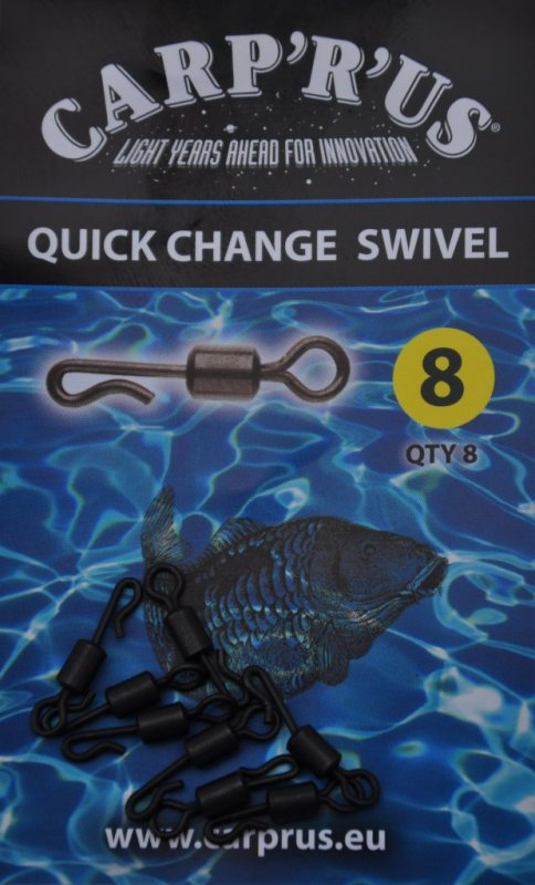 CARP´R´US Quick Change Swivel - rýchloobratlík 8ks