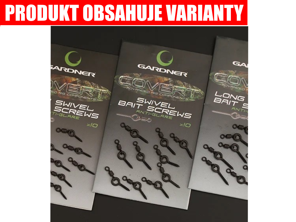 GARDNER Kolíček s obratlíkom Covert Swivel Bait Screws Anti Glare (10ks)