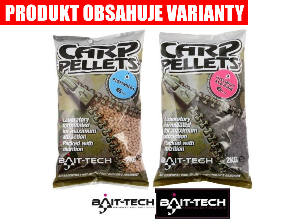 BAIT-TECH Pelety Halibut Carp Feed Pellets (2kg)
