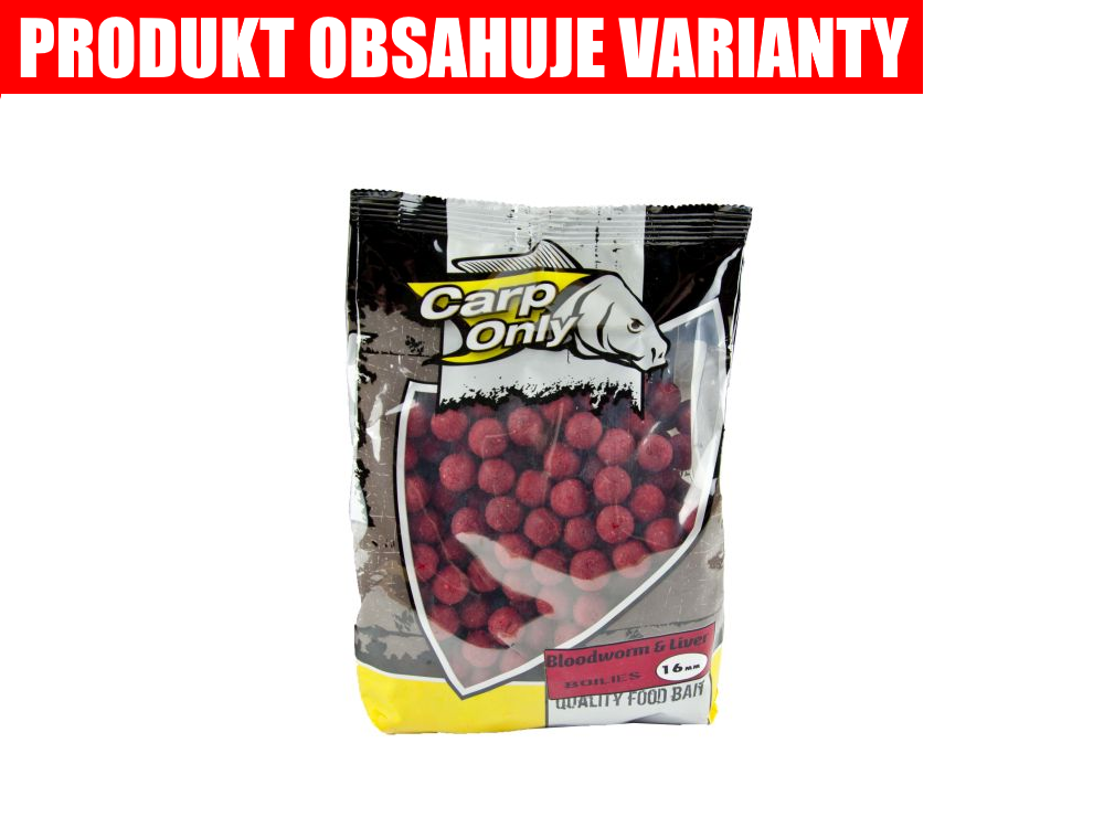 CARP ONLY Bloodworm&Liver Boilie 1kg (patentka&pečeň)