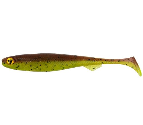 FOX RAGE Nástraha Slick Shad UV Green Pumpkin - 13cm (1ks)