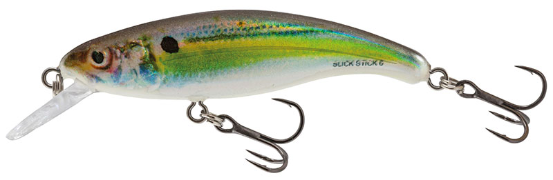 SALMO Wobler SLICK STICK FLOATING Real Holographic Shad - 6cm (plávajúci)