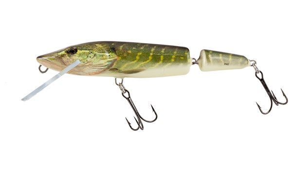 SALMO Wobler PIKE JOINTED FLOATING Real Pike - 13cm (plávajúci)