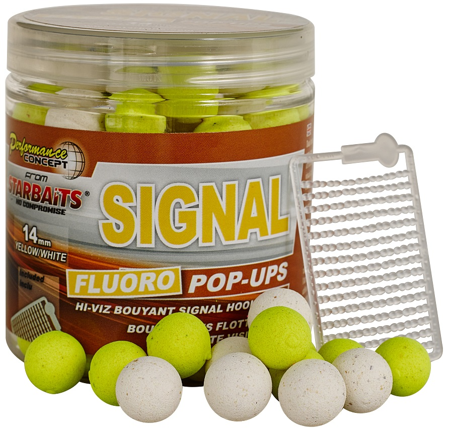 STARBAITS Boilie Pop Ups Fluo Signal 80g - 14mm