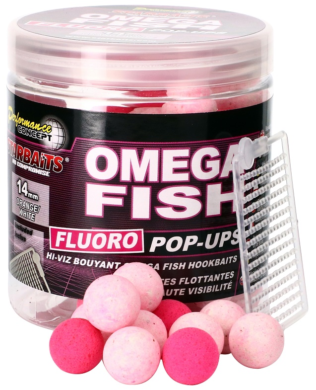 STARBAITS Boilie Pop Ups Fluo Omega Fish 80g - 14mm