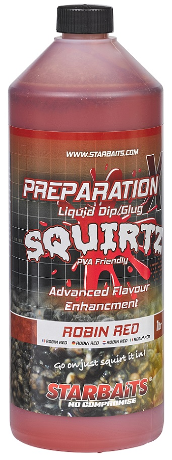 STARBAITS Booster Prep x Squirtz Robin Red - 1l