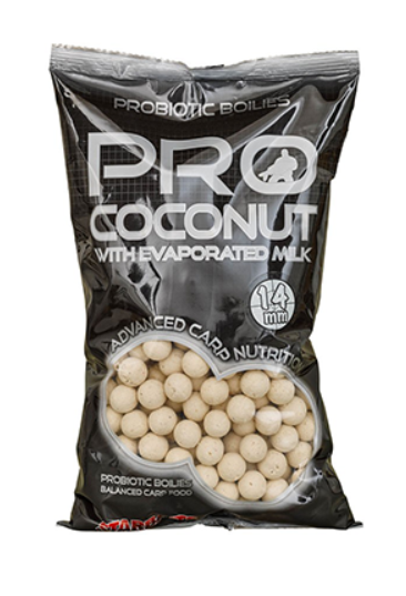 STARBAITS Boilie Probiotic Coconut, 1kg - 14mm