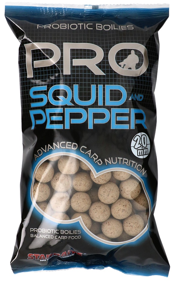 STARBAITS Boilie Probiotic Squid & Pepper, 1kg - 20mm