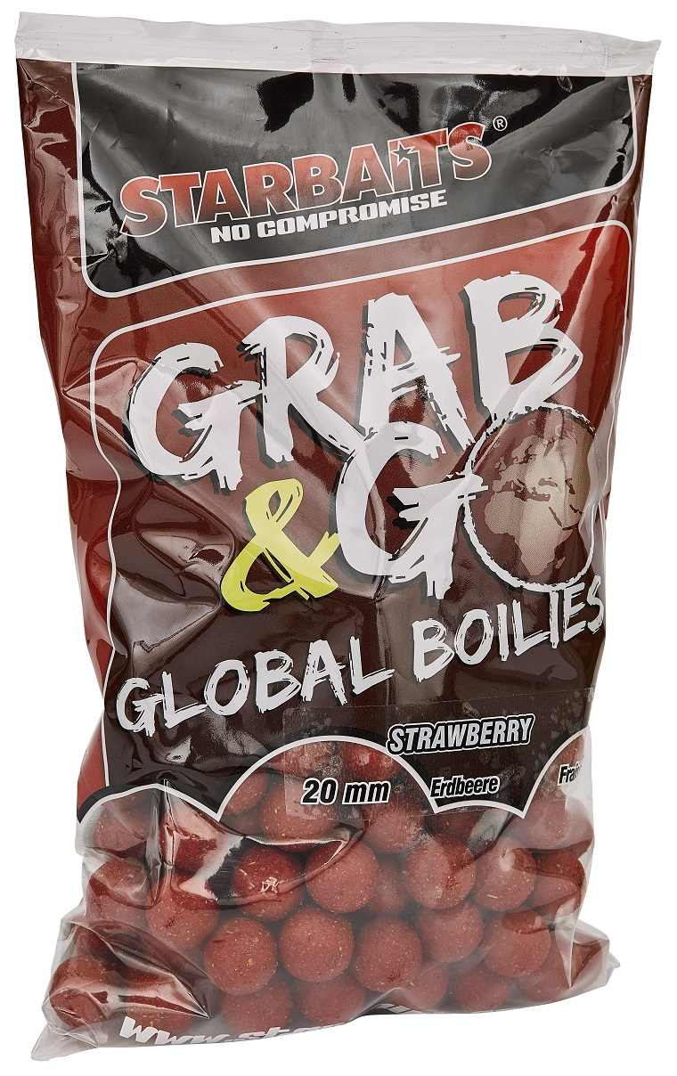 STARBAITS Boilie Grab&Go STRAWBERRY JAM, 1kg - 20mm