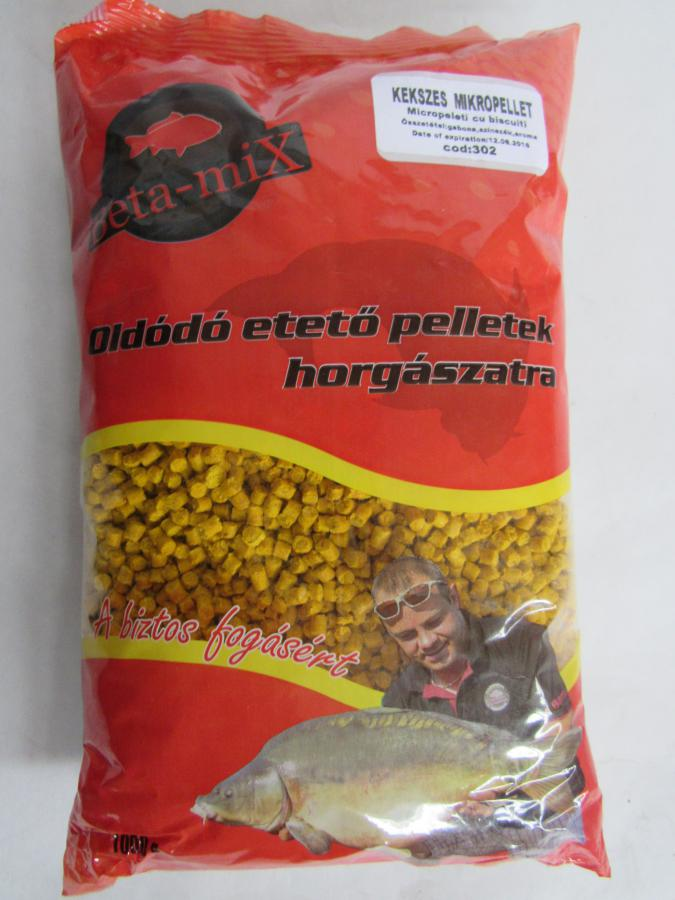 BETA MIX Mikropelety 4 mm, 1 kg - Keks