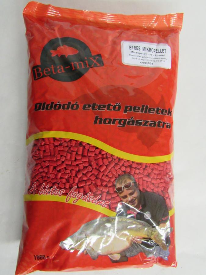 BETA MIX Mikropelety 4 mm, 1 kg - Jahoda