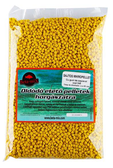 BETA MIX Mikropelety 4 mm, 1 kg - Syr