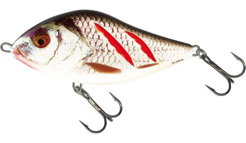 SALMO Wobler Slider Sinking Wounded Real Grey Shiner - 7cm, 21g (potápavý)