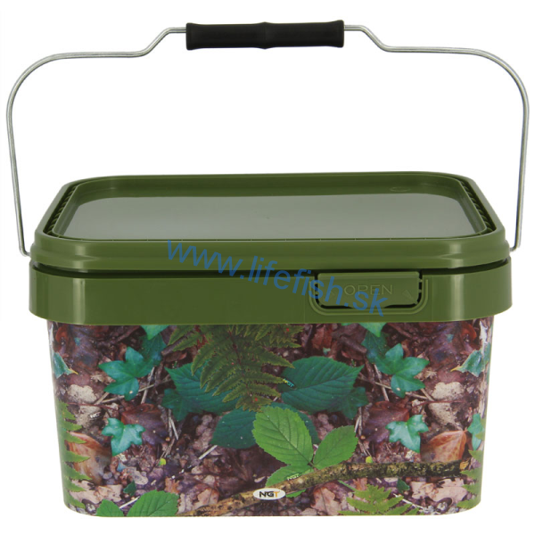 NGT Square Camo Bucket 5L