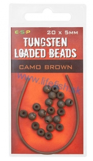 ESP Gumené stopery - Tungsten Loaded Bead Brown - 20x5mm