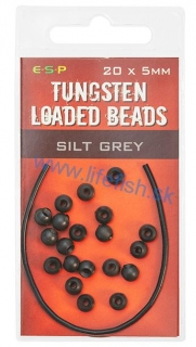 ESP Gumené stopery - Tungsten Loaded Bead Silt Grey - 20x5mm