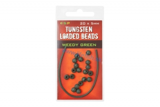 ESP Gumené stopery - Tungsten Loaded Bead Green - 20x5mm
