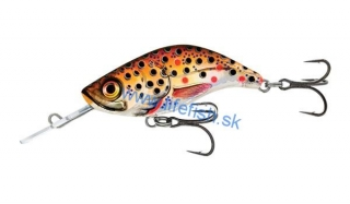 SALMO Wobler SPARKY SHAD SINKING Brown Holo Trout - 4cm (potápavý)